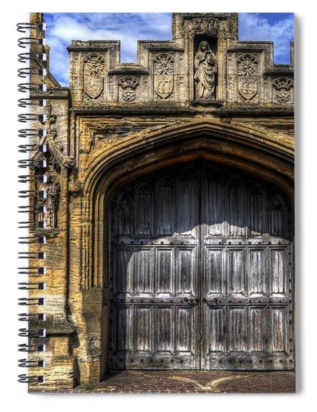 Magdalen College Door - Oxford Spiral Notebook