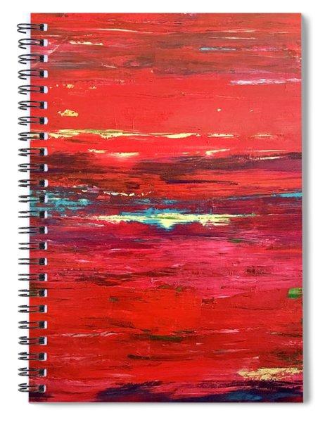 Magenta Sunset Spiral Notebook