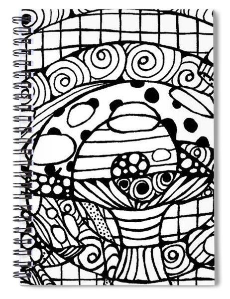 Magic Mushroom Tangle Spiral Notebook