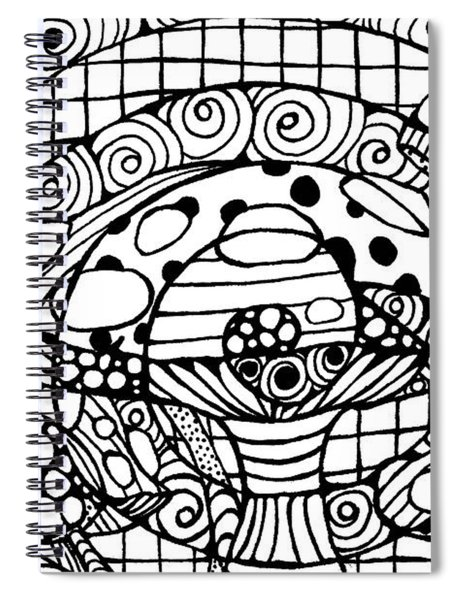 Magic Mushroom Tangle Spiral Notebook