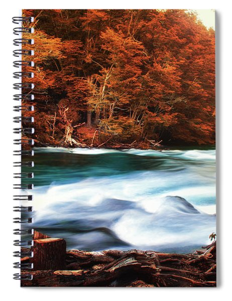 Autumnal Landscape With Lake In The Argentine Patagonia Spiral Notebook