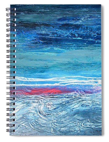 Magnificent Morning Abstract Seascape Spiral Notebook