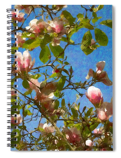 Magnolia Branches With Blue Sky Spiral Notebook