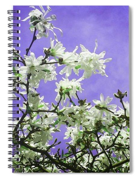 Magnolia Sky In Indigo Spiral Notebook