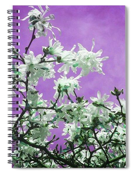 Magnolia Sky In Violet Spiral Notebook