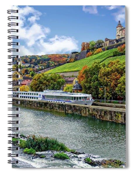Main River Panorama Spiral Notebook