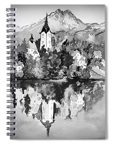 Majestic Bled Island  Spiral Notebook
