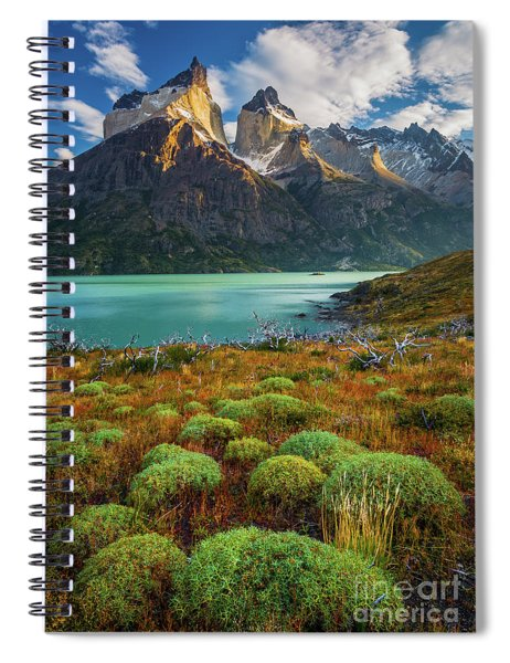 Majestic Los Cuernos Spiral Notebook by Inge Johnsson