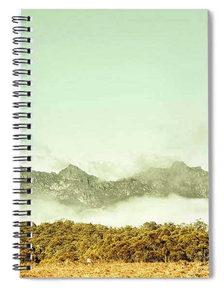 Majestic Misty Mountains Spiral Notebook