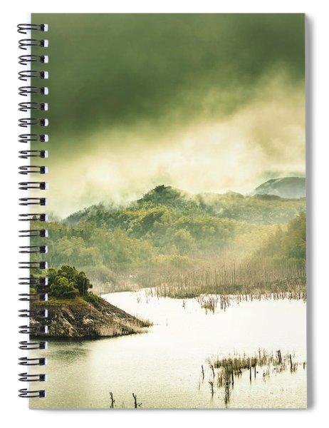 Majestic Morning Lake Spiral Notebook