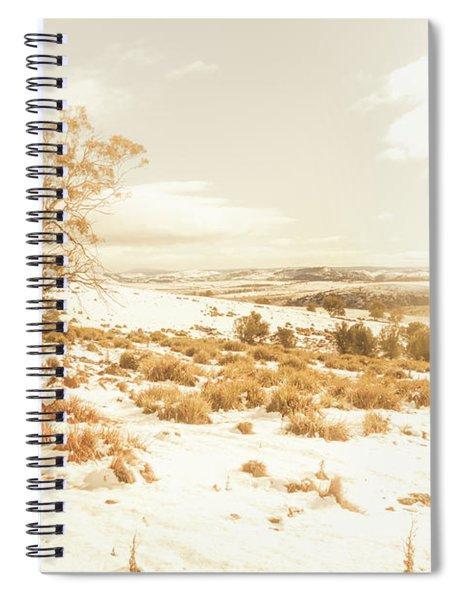 Majestic Scenes From Snowy Tasmania Spiral Notebook