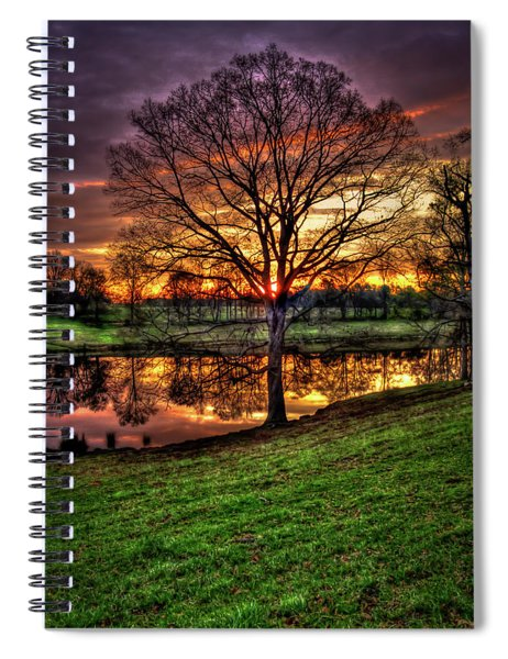 Majestic Sunrise Reflections Art Spiral Notebook
