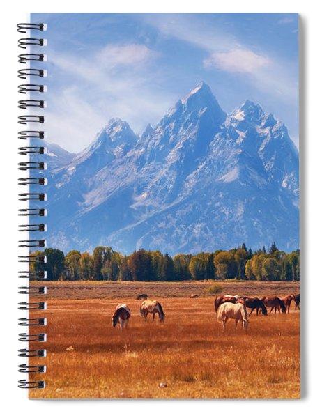 Majestic Teton Landscape Spiral Notebook