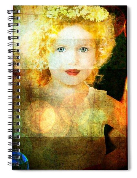 Golden Curls Spiral Notebook