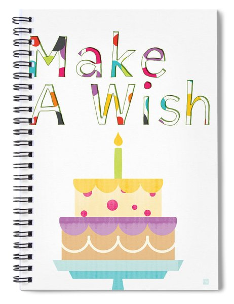 Make A Wish- Art By Linda Woods Spiral Notebook