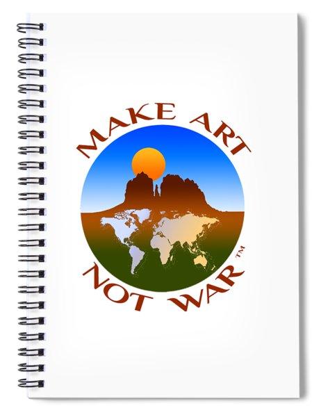 Make Art Not War Logo Spiral Notebook