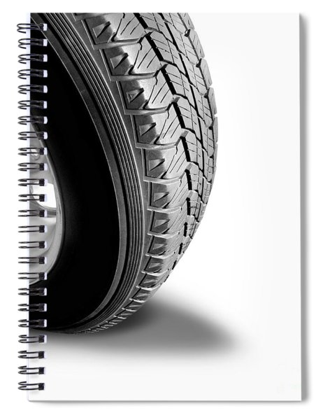 Make Tyre Tracks Spiral Notebook