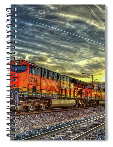 Make Way Resting B N S F Train Gallup New Mexico Art Spiral Notebook