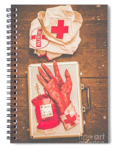 Make Your Own Frankenstein Medical Kit  Spiral Notebook