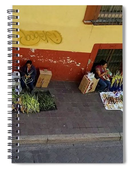 Making Souvenirs On Palm Sunday Spiral Notebook