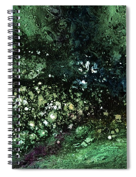 Malachite- Abstract Art By Linda Woods Spiral Notebook