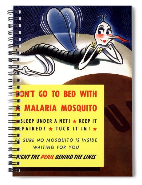Malaria Mosquito Spiral Notebook