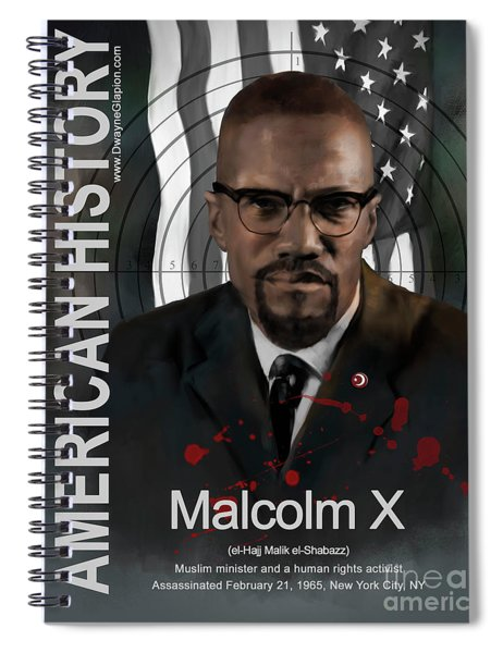 Malcolm X American History Spiral Notebook