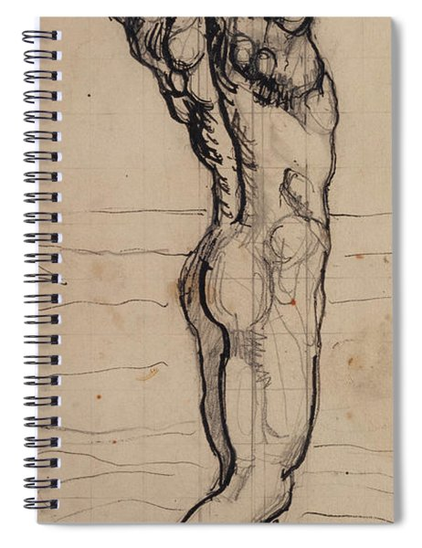 Male Act   Study For The Truth Spiral Notebook