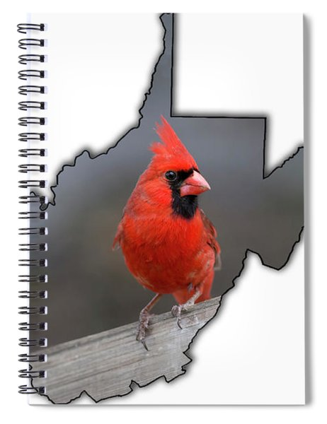 Male Cardinal One Of The Most Recognizable Birds Spiral Notebook