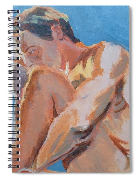 Male Nude Painting Spiral Notebook