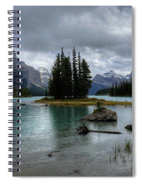 Maligne Lake Spirit Island Jasper National Park Alberta Canada Spiral Notebook