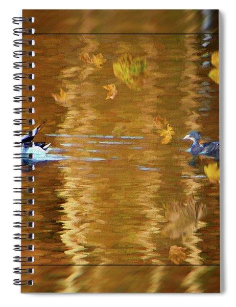 Mallard Ducks On Magnolia Pond - Painted Spiral Notebook
