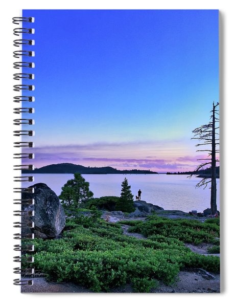 Spiral Notebook featuring the photograph Man And Dog by Jim Thompson