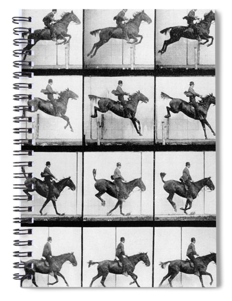 Man And Horse Jumping Spiral Notebook