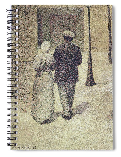 Man And Woman In The Street Spiral Notebook