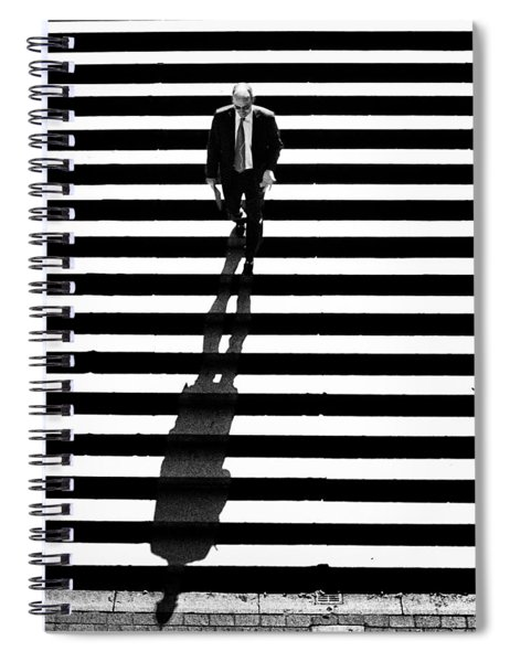 Man Bethesda Steps Spiral Notebook