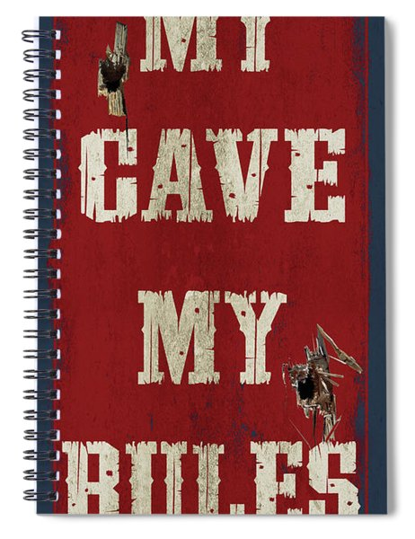 Man Cave Rules Spiral Notebook