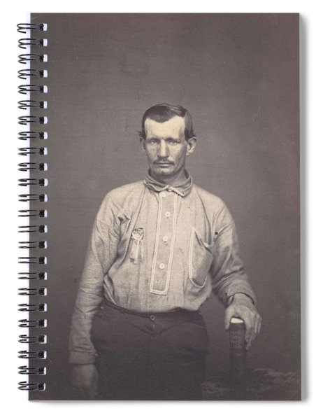 Man Holding Patent Office Book , Attributed To Oliver H. Willard Spiral Notebook