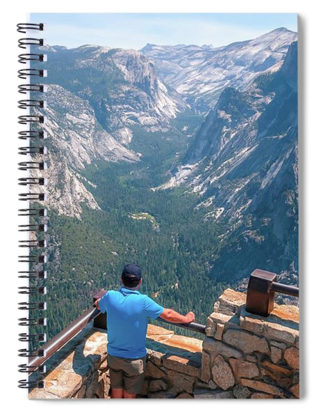 Man In Awe- Spiral Notebook