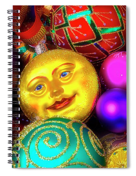 Man In The Moon Ornament Spiral Notebook