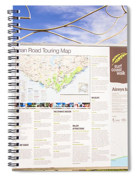 Man Sightseeing The Great Ocean Road Spiral Notebook