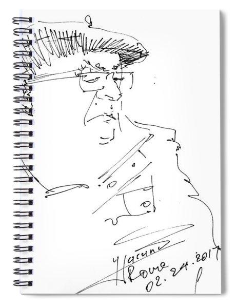 Man With Hat Spiral Notebook