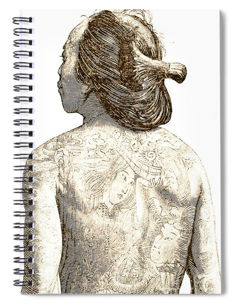 Man With Traditional Japanese Irezumi Tattoos Spiral Notebook