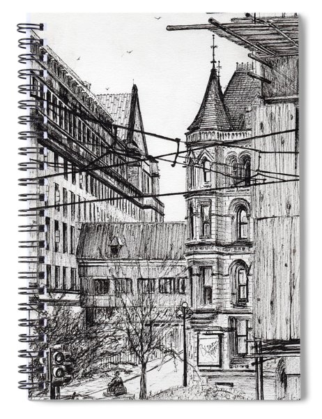 Manchester Town Hall From City Art Gallery Spiral Notebook