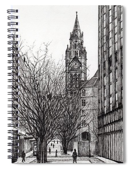 Manchester Town Hall From Deansgate Spiral Notebook