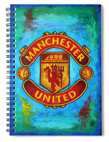 Manchester United Vintage Spiral Notebook