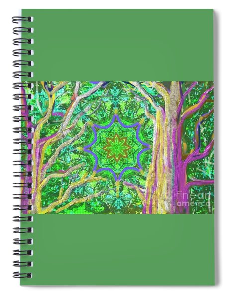 Mandala Forest Spiral Notebook