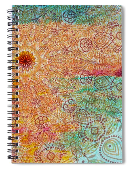 Mandala Sets Over The Dunes Spiral Notebook
