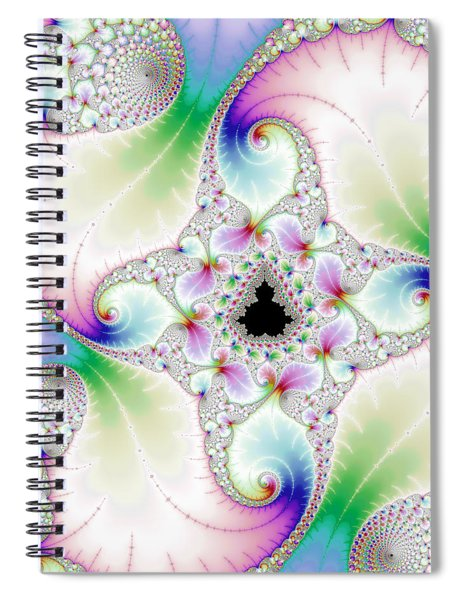 Mandebrot In Pastel Fractal Wonderland Spiral Notebook