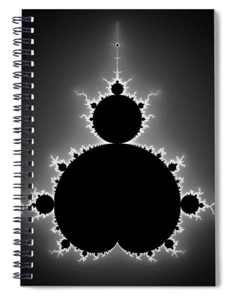 Mandelbrot Set Black And White Fractal Art Spiral Notebook